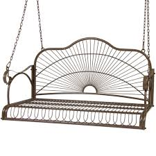bcp iron patio hanging porch swing chair bench seat outdoor