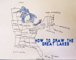 A Map Of The Usa by How To Draw A Map Of The Great Lakes With A Few Of The Usa States