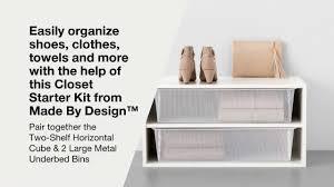 kitchen cabinet organizer shelf white made by designtm two shelf horizontal cube made by design