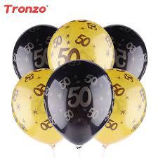 50th birthday balloons tronzo 30th 40th 50th birthday balloon gold black happy birthday