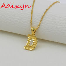 gold necklace with letters images Adixyn small letters initial d pendant necklace gold color copper jpg