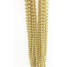 bead necklace gold images Fun express light gold plastic metallic bead necklaces jpg