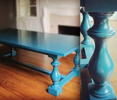 Teal Dining Table Work In Progress A Turquoise Dining Table Pulp Design Studios