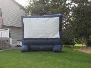 1 inflatable outdoor widescreen movie screen and epson moviemate