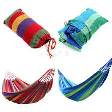 portable cotton outdoor swing fabric camping hanging hammock