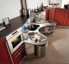 Kitchen  Kitchen Furniture Glass Tables And Unshaped Chrome Metal - Kitchen sink on legs