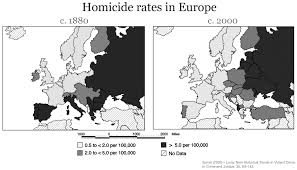 Northwestern Europe Map by Homicides Our World In Data