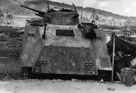 amphibious vehicle ww2 japanese 1st yokosuka snlf type 2 ka mi amphibious tank rear view