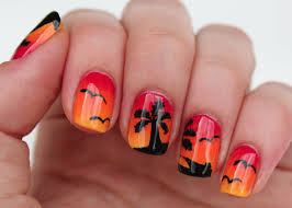 nail art palm tree nail art designs summer acrylic cute ideas