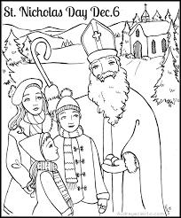 coloring page saint nicholas day click for pdf st nicholas