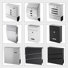 design edelstahl briefkasten briefkästen aus edelstahl ebay