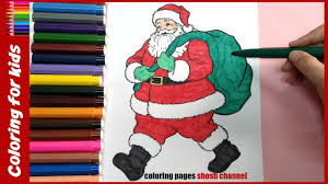 santa claus coloring pages for preschoolers christmas coloring