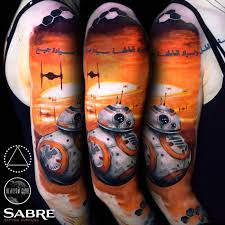 star wars sleeve with bb 8 droid best tattoo design ideas