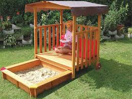 exaco rolling playhouse covered sandbox playhouse