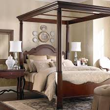 4 Post Bed Frame King Bedroom Fabulous Design Ideas Using Cherry Wood High Canopy Frame