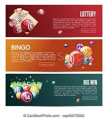 bingo lottery online lotto game vector web banners templates