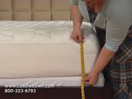 How To Fold A Fitted Bed Sheet How To Measure Your Bed For A Fitted Sheet Youtube