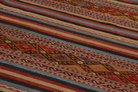 Aztec Area Rug Moroccan Rug Style Vivid Stripes And Kilim Pattern Bohemian House