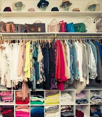interior exciting closet organization with hanging clothes for