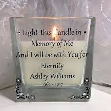 personalised memorial candle loved one in memory remembrance funeral