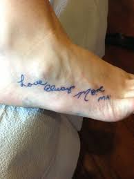 in memory tattoos for when you ve lost a loved one