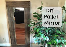 diy pallet framed mirror youtube