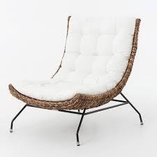 Banana Armchair Banana Leaf Woven Side Chair With Cushion Zin Home