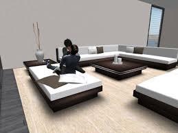 wooden corner sofa set second life marketplace sofa set corner ebony wood living room