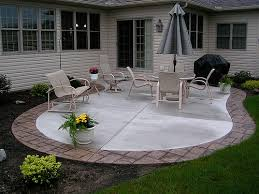 Concrete Patio With Pavers Pavers Around A Concrete Slab Good Possibility If You Don U0027t Want