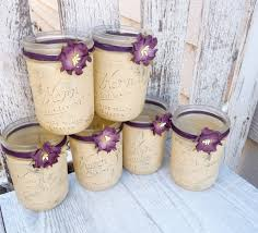 rustic wedding jars shabby chic country upcycled mason jar