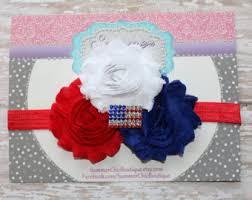 white and blue headband patriotic headband white and blue headband july 4th