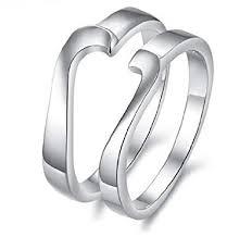 korean wedding rings his hers matching set platinum plated ring