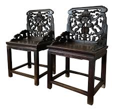 Wooden Chair Png Chinese 18th Century Qing Aged Hand Carved Jumu Wood Chairs A Pair
