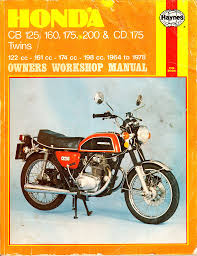 haynes honda cb 125 160 175 200 u0026 cd 175 workshop manual 1964