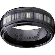 ceramic wedding bands 8mm black ceramic wedding ring acacia koa wood inlay comfort fit
