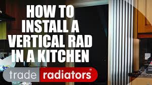 installing a vertical aluminum radiator in a kitchen youtube