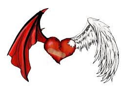 devil angel broken heart tattoo design tattoos book 65 000