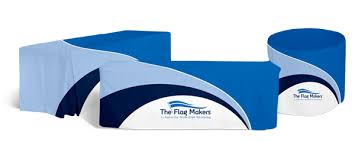 Custom Fitted Table Covers by Fitted Table Covers Custom Printed Table Covers The Flag Makers