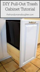 trash can cabinet insert diy pull out trash can cabinet tutorial the handyman s daughter