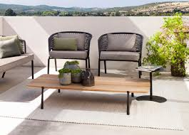 Design Garden Furniture London by Tribu Branch Rectangular Garden Coffee Table Tribu Outdoor
