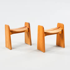 O Sullivan Furniture by Gilbert Marklund Pine Stools For Furab 1960s Stooled