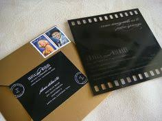 old hollywood art deco gold movie ticket wedding invitation by