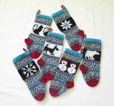 decoration small knitted christmas stockings for chirstmas