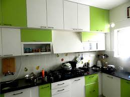 green and white kitchen cabinets enchanting modular kitchen with l shape features white green colors