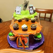 customized 3 tier halloween cupcake stand holylise