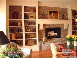 brick fireplace bookshelves robinson old brick originals