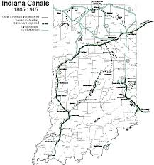 map of the erie canal ihb map of indiana canals 1805 1915