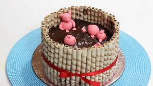 Best Mud Cake Decorating Ideas Good Home Design Amazing Simple On