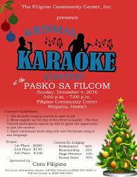 krismas karaoke contest filipino community center