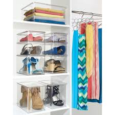 amazon com interdesign closet binz stackable organizer holder